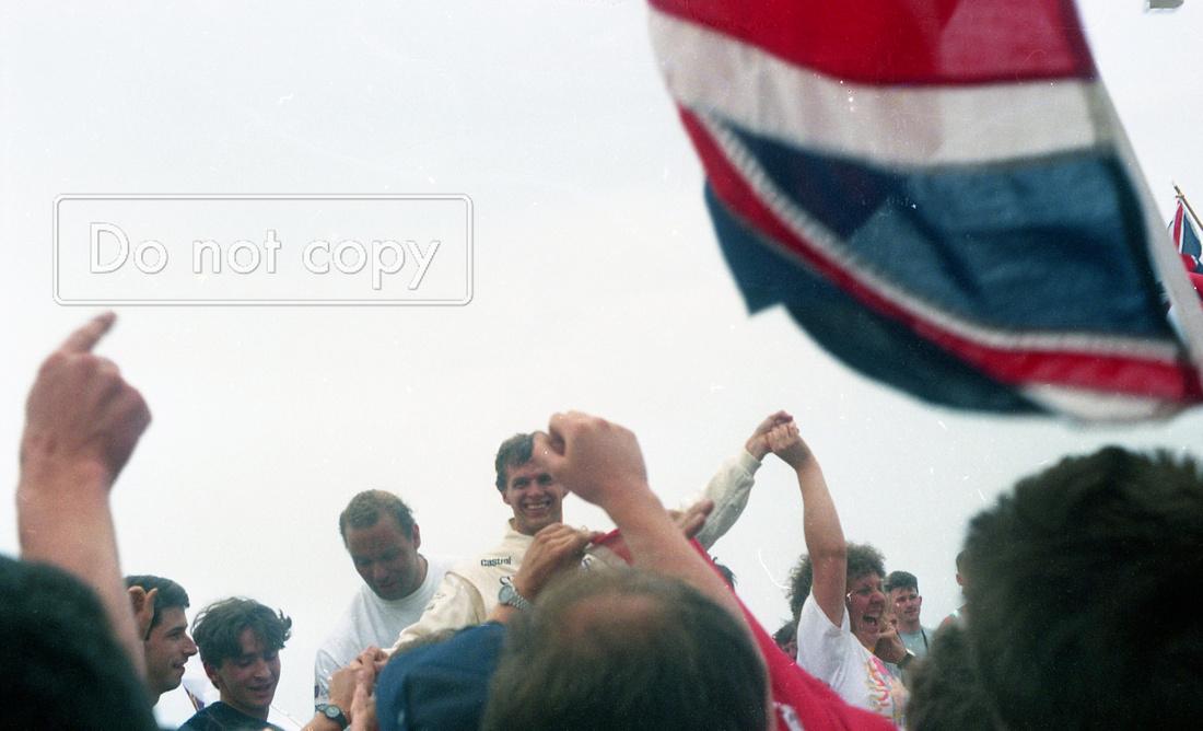 Jan Lammers on the Jaguar Le Mans